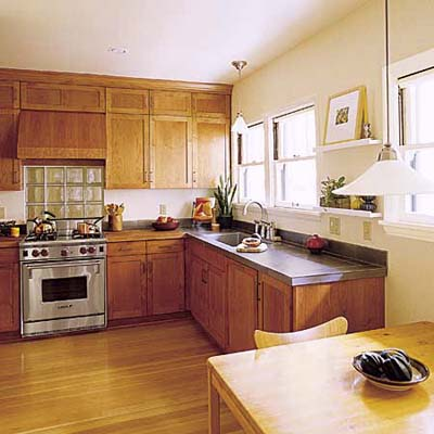 earth-friendly Portland, Oregon bungalow kitchen after