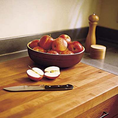 earth-friendly kitchen butcher-block counters