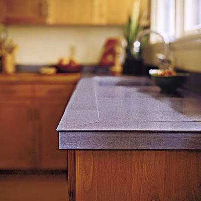 Earth-friendly, durable Eleek tile kitchen countertop