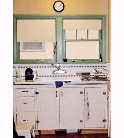 earth-friendly Portland, Oregon, kitchen before