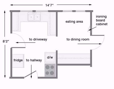 Kitchen before floorplan