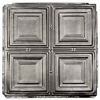 silver ceiling tile