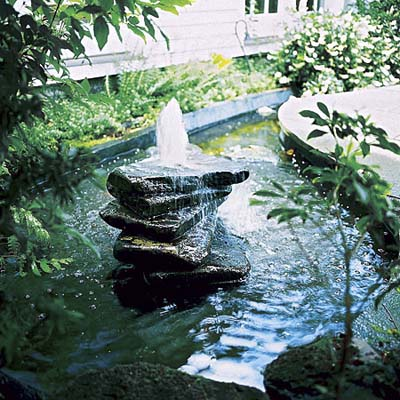 fountain in garden