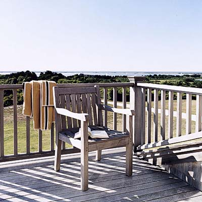 deck of Russ Morash's master bedroom in Nantucket
