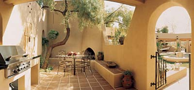 Tuscon TV project house patio and yard