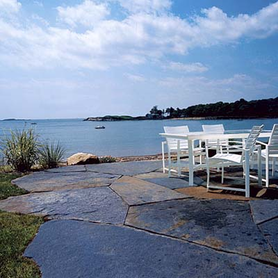 stone patio on inlet in Manchester-by-the-Sea