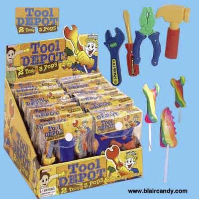 Albert's Tool Depot Lollipop Playsets from blaircandy.com