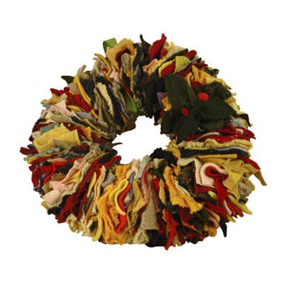 colorful handmade wreath