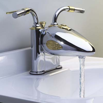 motor-cycle inspired faucet