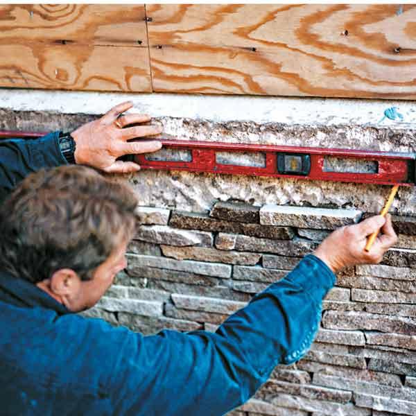 all about stone veneer TOH crew member Roger Cook installing stone veneer