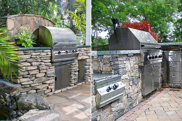 all about stone veneer outdoor kitchens and grills with real stone veneer and cast stone veneer