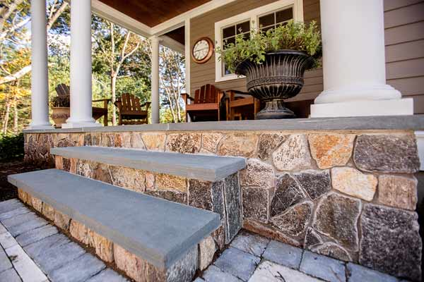 all about stone veneer standard grout space between stones house exterior front porch stairs boston blend mosaic stoneyard