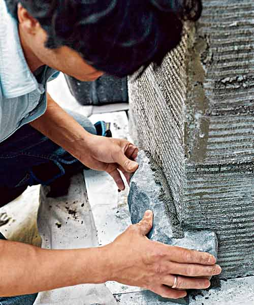 all about stone veneer pick right mortar for installation