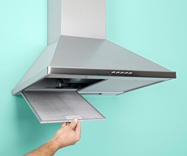 Dirty Exhaust Hood ~ Clean a greasy range hood filter essential