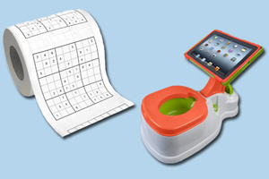 wackiest bath products sudoku toilet paper and ipad holding potty trainer