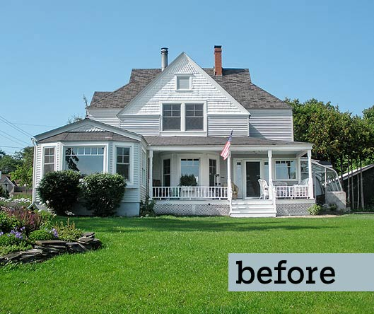the Parlow house before a Photoshop remodel