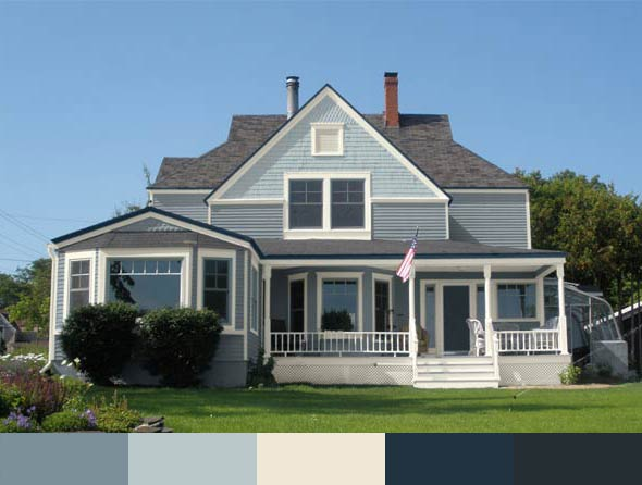 the Parlow house with different exterior paints by Glidden