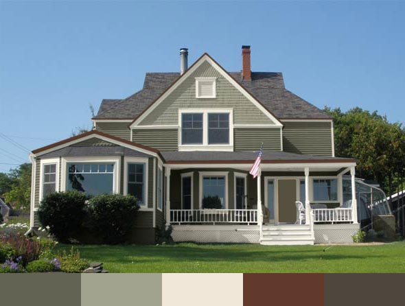the Parlow house with different exterior paints by Sherwin-Williams