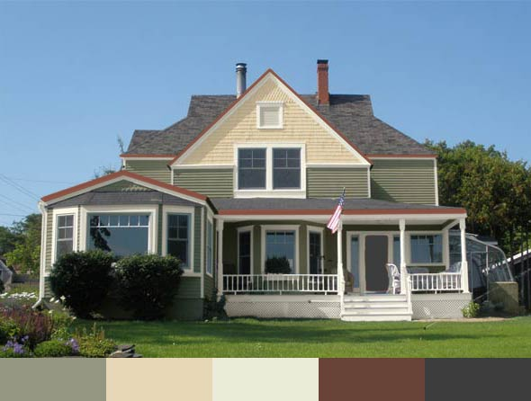 the Parlow house with different exterior paints by Behr
