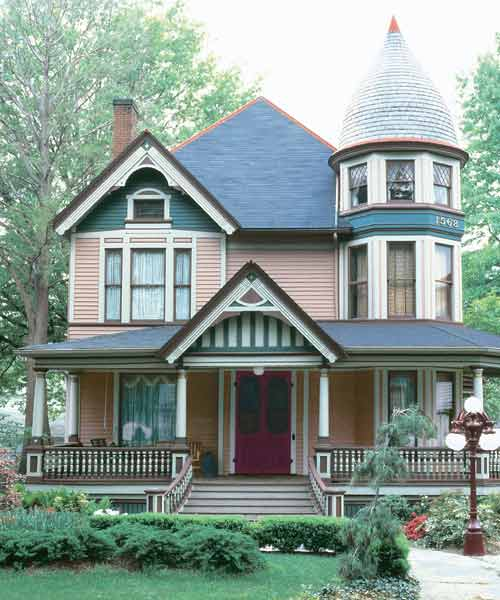Five-Color Beauty for Paint-Color Ideas for Ornate Victorian-Era Houses