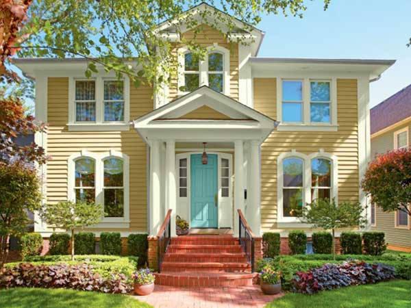 Bright and cheery paint color ideas for ornate victorian - Good color combinations for house exterior ...