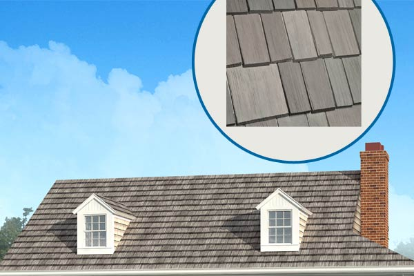 Photoshop redo of a 1940s cottage with focus on the roof shingles