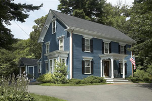 Colors For Colonial Revival Houses Dusty Blue Early 20th Century House