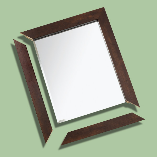 adding wood frame to plain mirror, fast fixes
