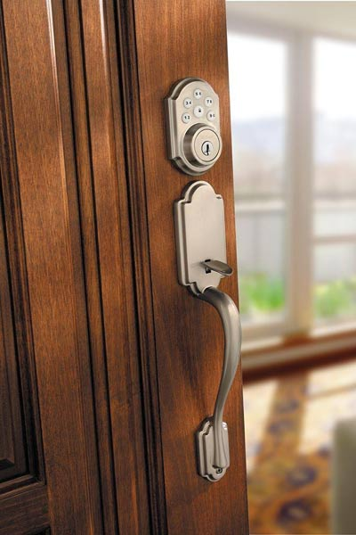 electronic touch pad lockset for front entry, fast fixes