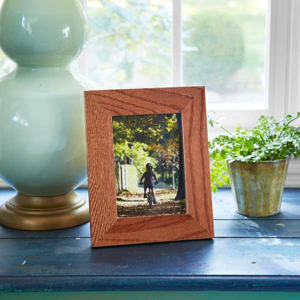 framed photo using wood floor scraps, 10 uses for wood flooring scraps