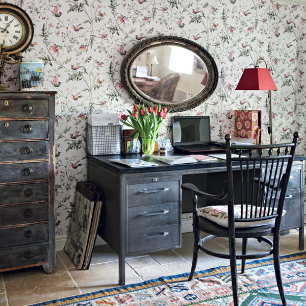 Quirky Cottage-Style Home Office for this old house get this look