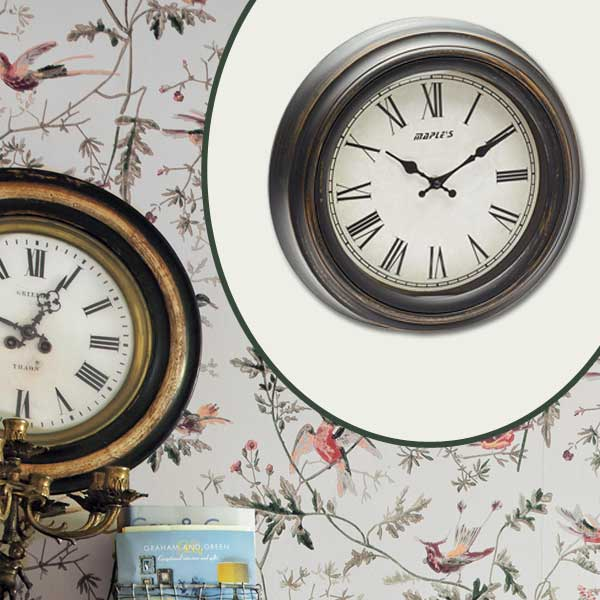 Vintage-Look Clock as part of the this old house get this look Quirky Cottage-Style Home Office gallery