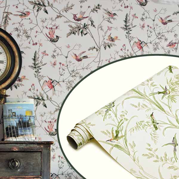 Nature-Inspired Wallpaper as part of the this old house get this look Quirky Cottage-Style Home Office gallery