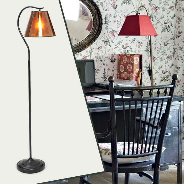 Floor Lamp as part of the this old house get this look Quirky Cottage-Style Home Office gallery