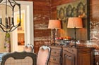 easy vintage charm upgrade distressed wall wood paneling