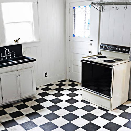 before vintage look kitchen, reader budget remodel
