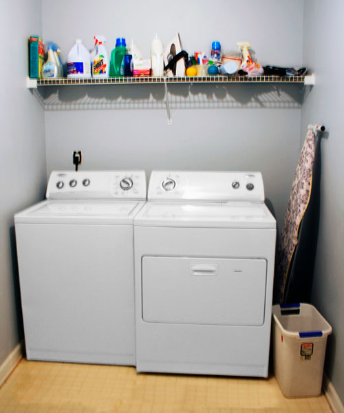 before laundry space , reader budget remodel