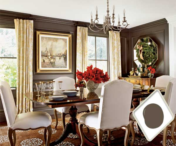 truffle brown best colors for dining room drama this