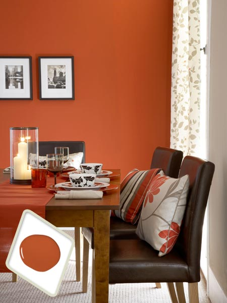 Spicy Orange Best Colors For Dining Room Drama This