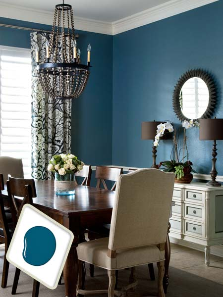 Midnight sky best colors for dining room drama this for Jazz living room ideas
