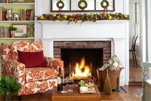 create a Colorful Holiday Hearth
