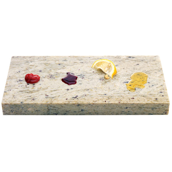 all about stone countertops stainable substances on a piece of stone countertop