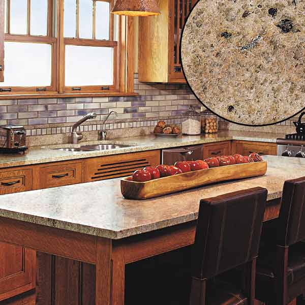 all about stone kitchen countertops granite countertop, honey colored wood and gray blue tile