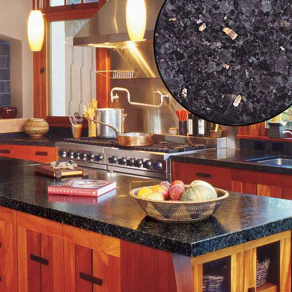 all about stone kitchen countertops black granite and Japanese style island