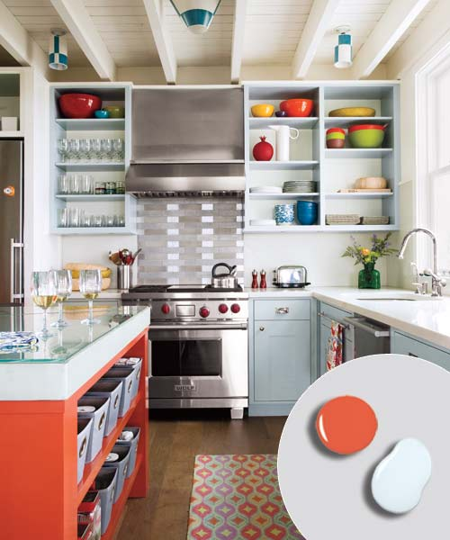 6. Cool Gray + Hot Orange