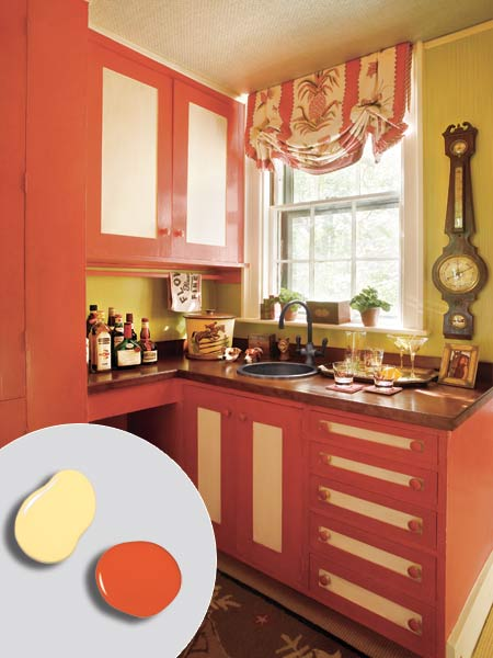 10 Flame Red Soft Yellow 12 Kitchen Cabinet Color