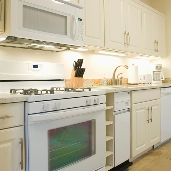 kitchen with under-cabinet task lighting