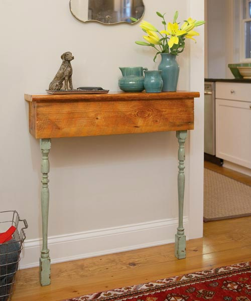 salvage project step by step side table stair parts