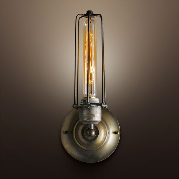 Bath: Cage-rattler electric gas lamp replica from the TOH Top 100 Best New Home Products 2013