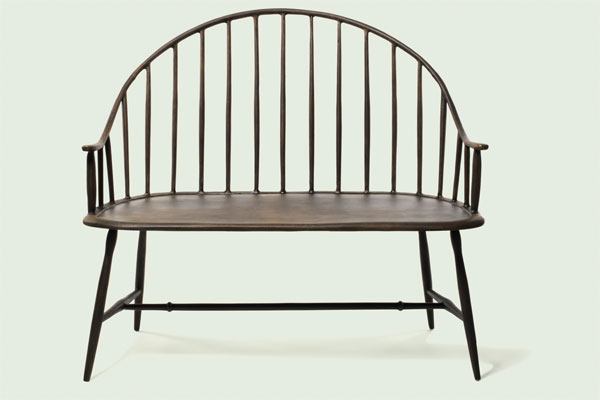 Outdoor Living: Sitting pretty cast aluminum bench from the TOH Top 100 Best New Home Products 2013